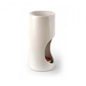 Аромалампа керамическая гладкая в подарочной коробке