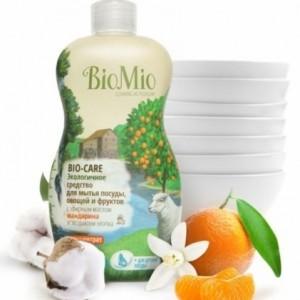 Экологичное средство для мытья посуды, овощей и фруктов с эфирным маслом мандарина