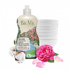Экологичное средство для мытья посуды, овощей и фруктов c эфирным маслом розового дерева