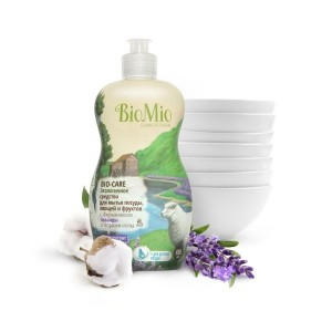 Экологичное средство для мытья посуды, овощей и фруктов без запаха с экстрактом хлопка и ионами серебра