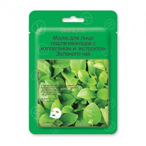 Маска для лица подтягивающая с коллагеном и экстрактом Зеленого чая